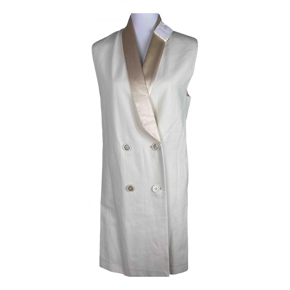 Brunello Cucinelli \N Beige Cotton coat for Women 42 IT