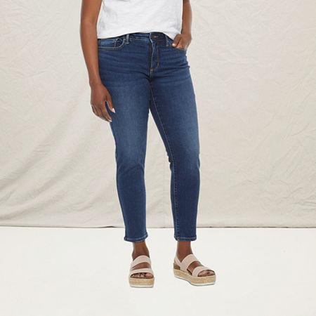 a.n.a - Petite Womens Skinny Ankle Jean, 12 Petite , Blue