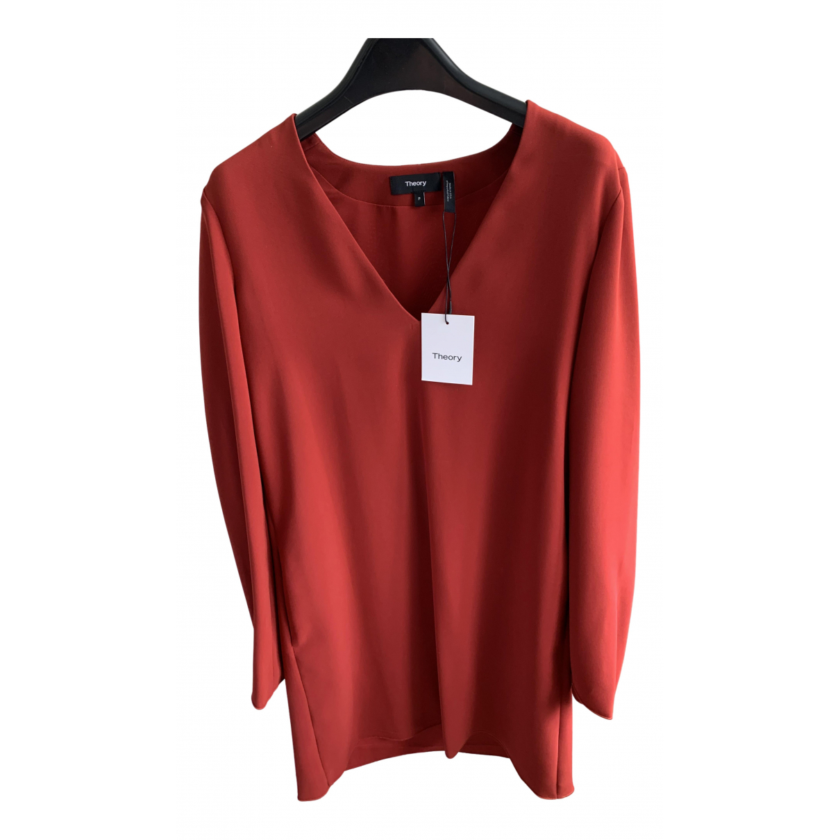 Theory \N Kleid in  Rot Polyester