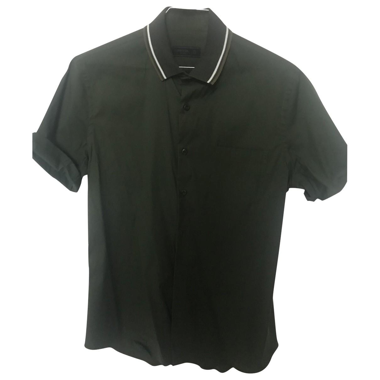 Prada \N Green Cotton Polo shirts for Men 40 EU (tour de cou / collar)