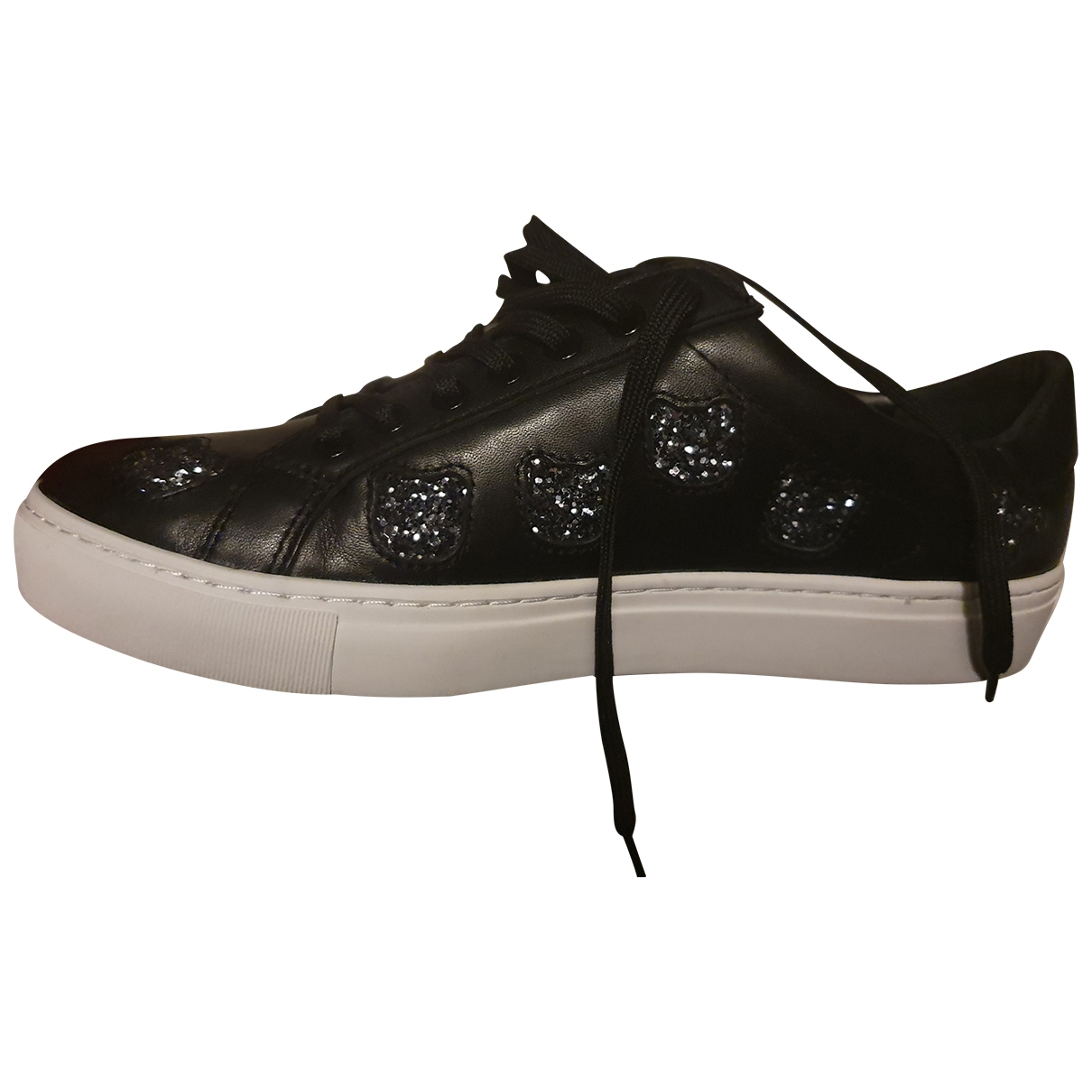 Karl Lagerfeld - Baskets   pour femme en a paillettes - noir