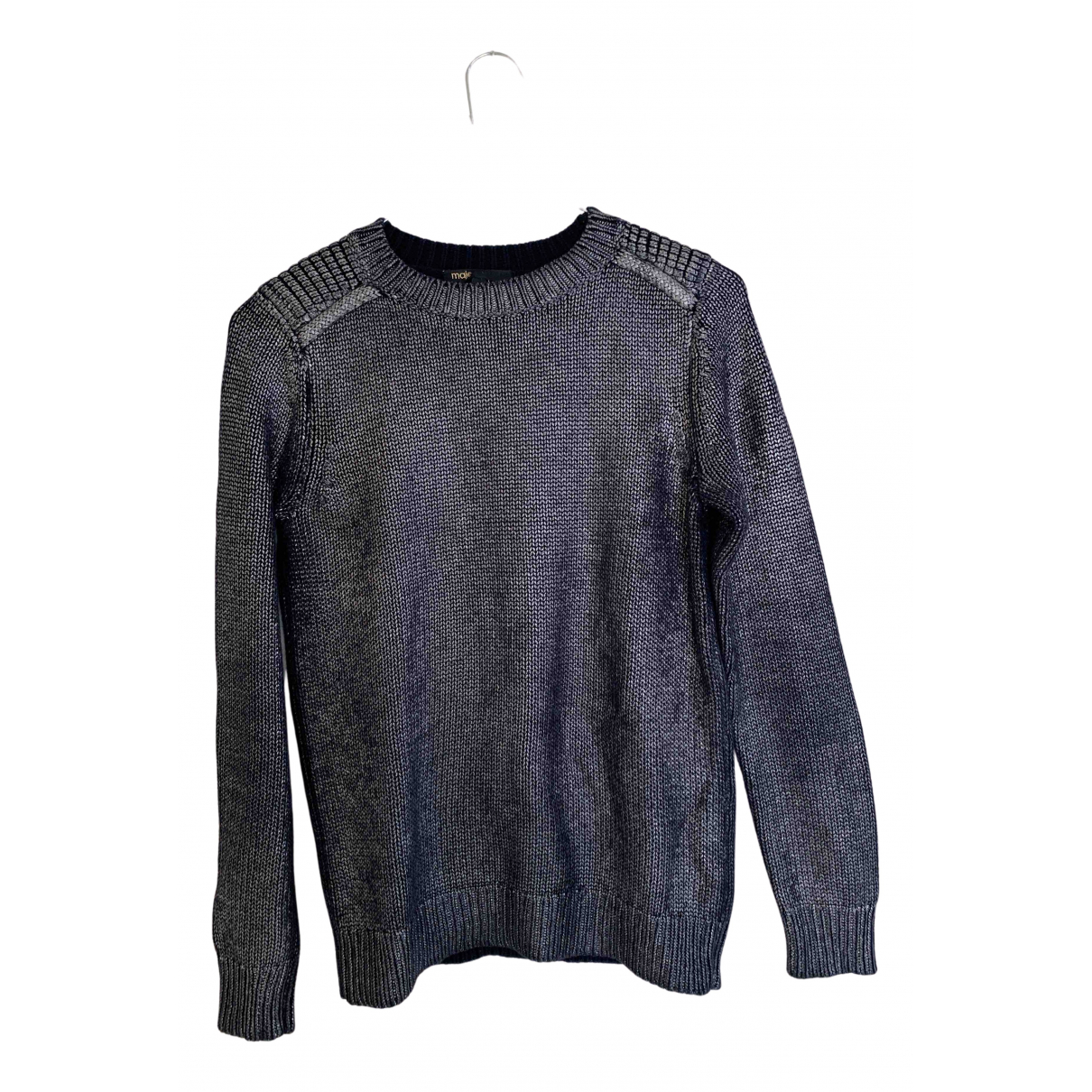 Maje N Metallic Cotton Knitwear for Women 34 FR