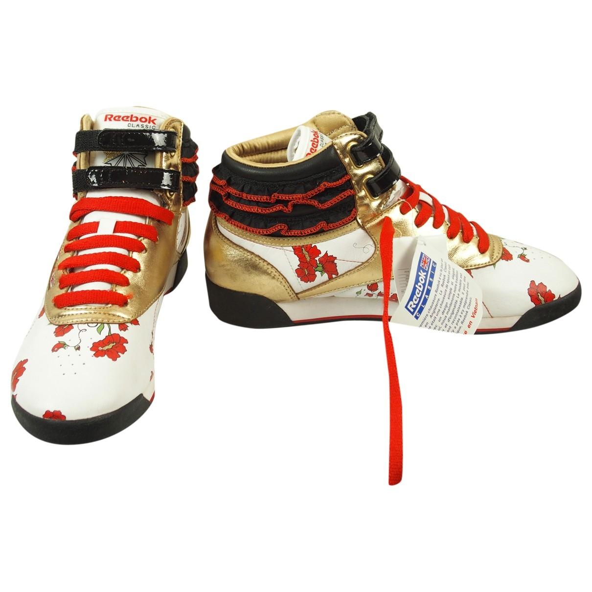 Reebok \N Sneakers in  Weiss Leder