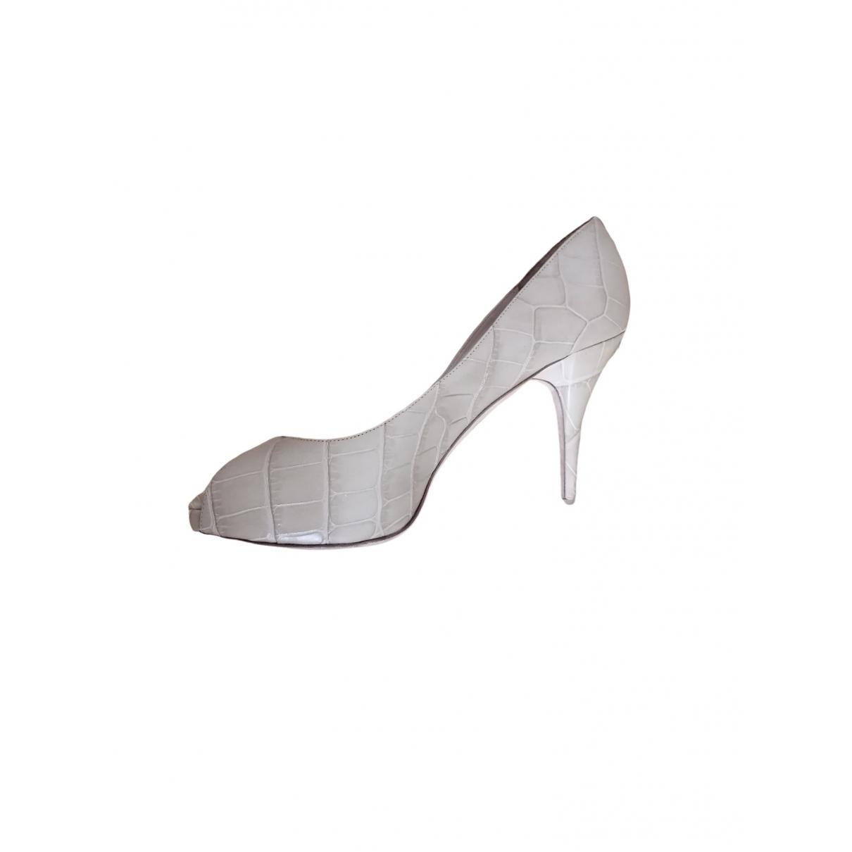 Jimmy Choo \N Beige Leather Heels for Women 39 EU