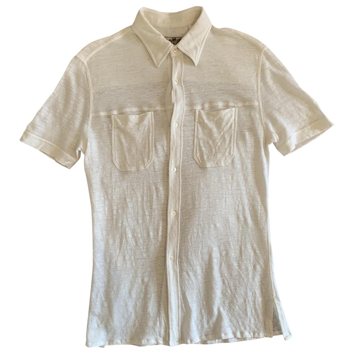Hermes \N T-Shirts in  Beige Leinen