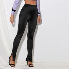 Split Hem Skinny Pants