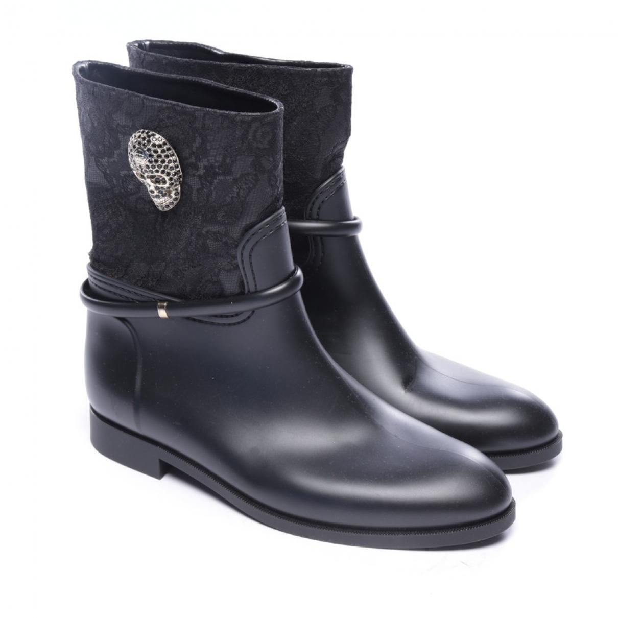 Philipp Plein - Boots   pour femme en caoutchouc - noir
