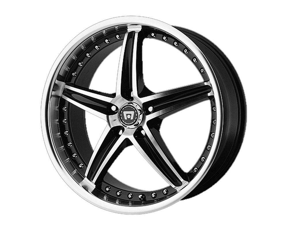Motegi MR107 Wheel 17x7.5 5x5x110 +45mm Gloss Black Machined