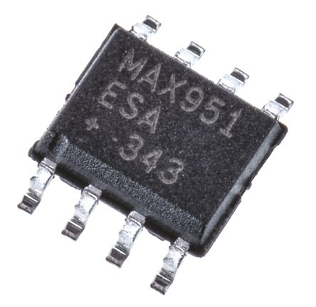 Maxim Integrated MAX951ESA+ , Comparator, Rail to Rail, Swing O/P, 22μs 8-Pin SOIC (100)