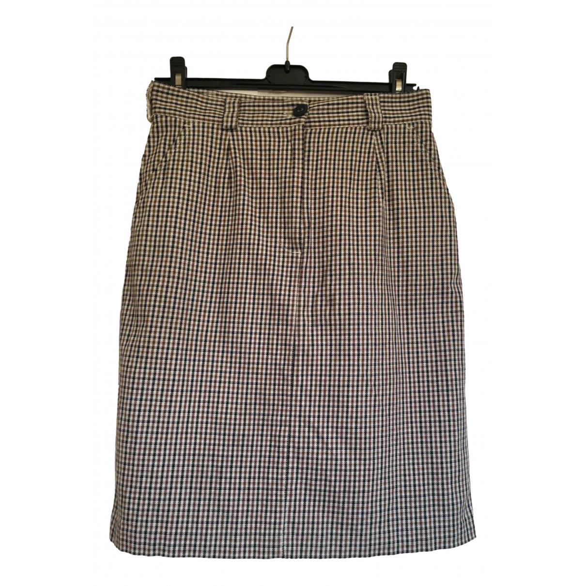 Aquascutum \N White Cotton skirt for Women 10 UK