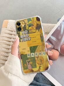 Sunflower Print iPhone Case