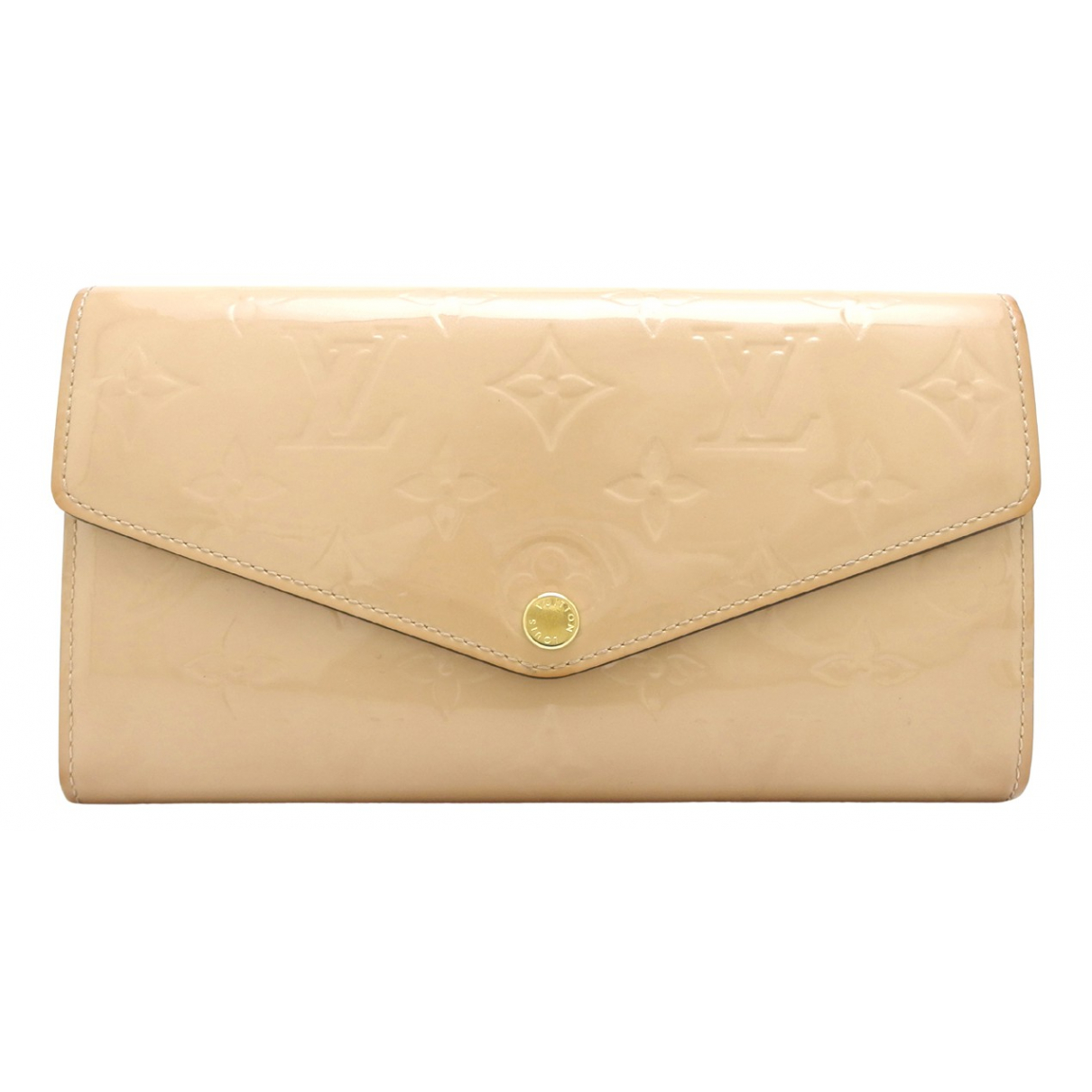 Louis Vuitton Sarah Beige Patent leather wallet for Women N