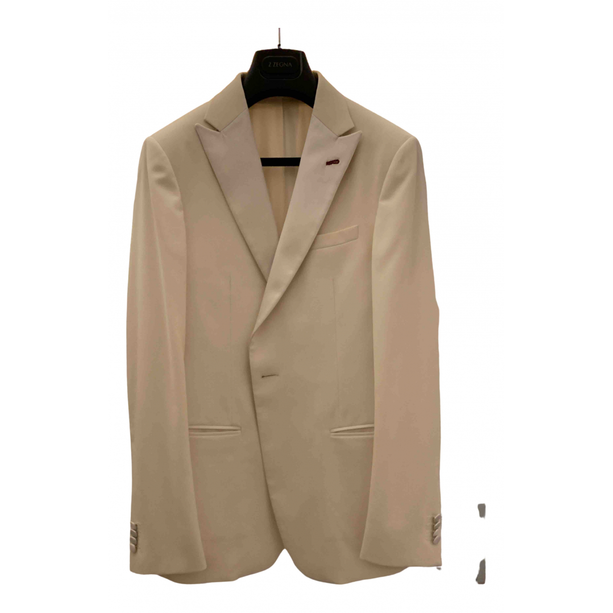 Z Zegna N White Wool Suits for Men 48 IT