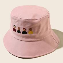 Sombrero cubo con estampado