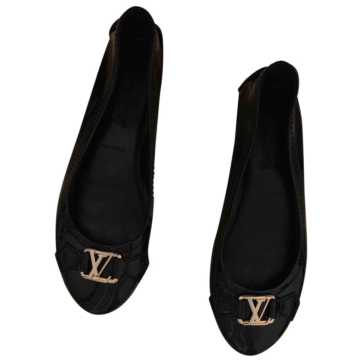 Louis Vuitton \N Black Patent leather Ballet flats for Women 36 EU