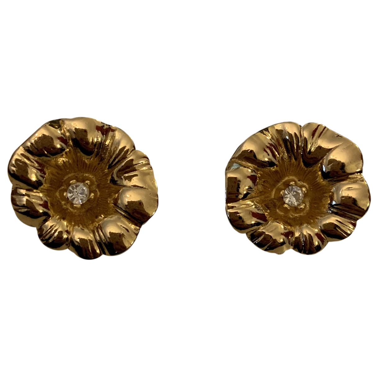Dior \N Yellow Metal Earrings for Women \N