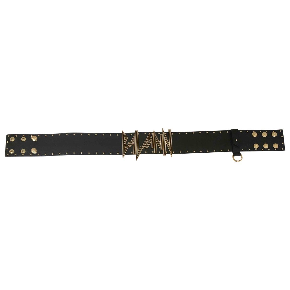 Balmain \N Black Leather belt for Women S International