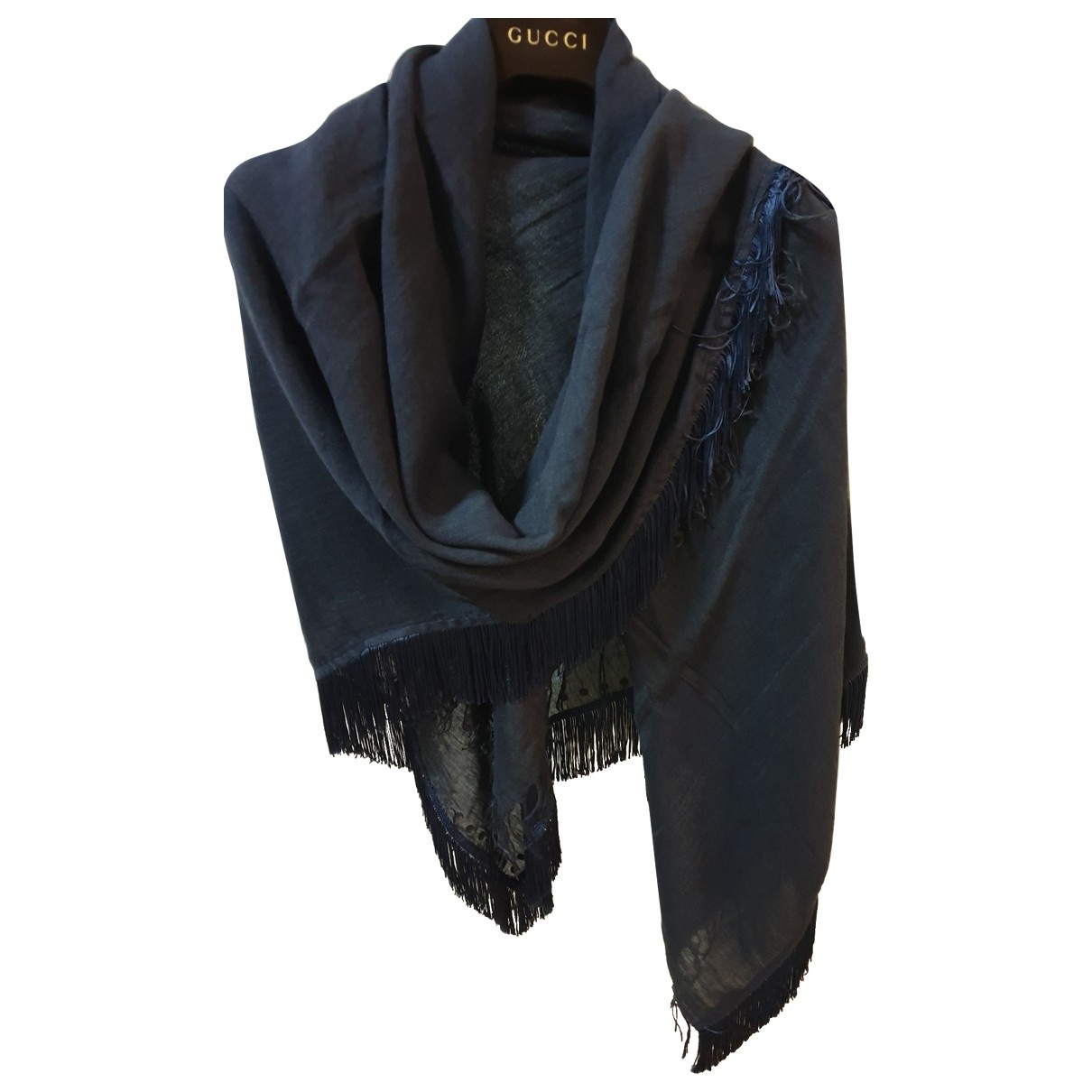 Pinko \N Blue Cotton scarf for Women \N