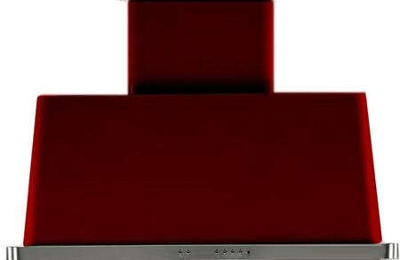 UAM100/BU 40 Majestic Burgundy Red Wall Mount Range Hood with 850 CFM Blower  Anti-grease Filter  2 Warming Lights  Filter Light Indicator  Auto-off