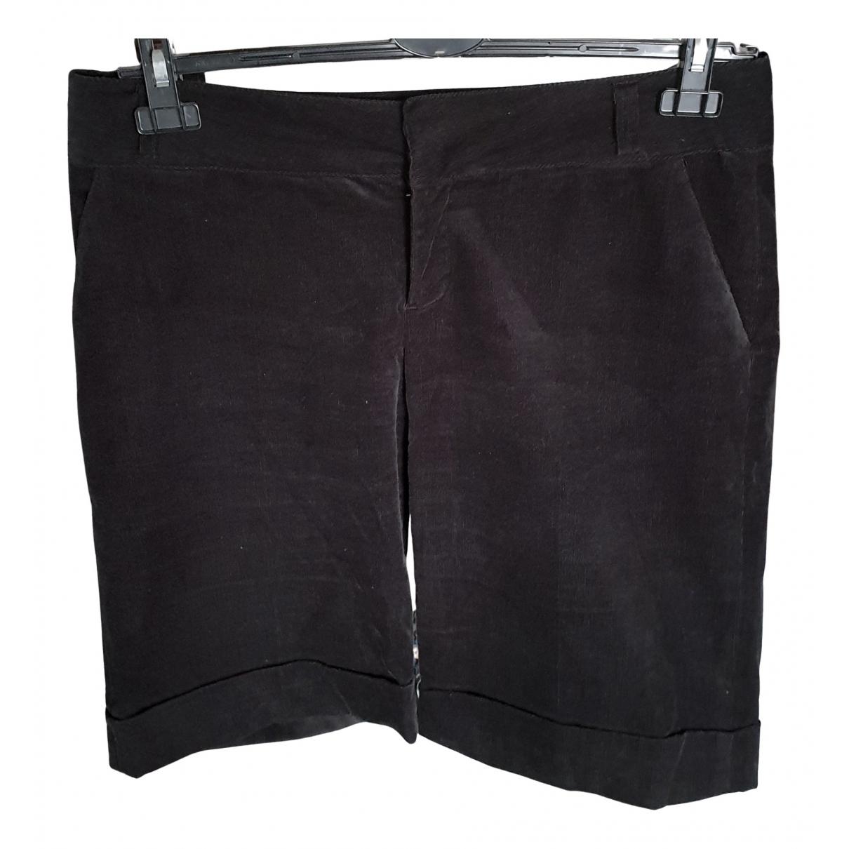 Zara \N Shorts in  Schwarz Baumwolle