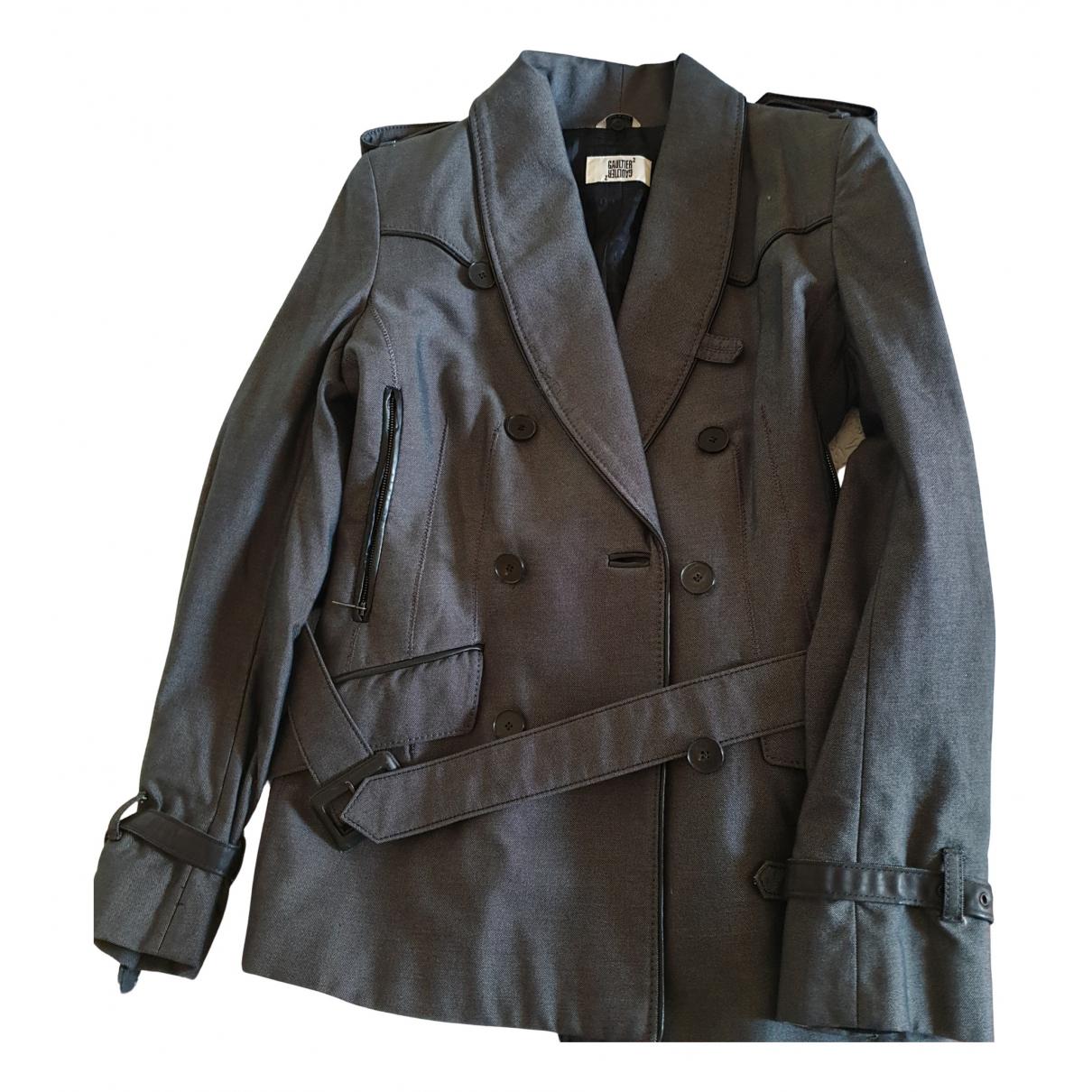 Jean Paul Gaultier - Veste   pour femme en coton - gris