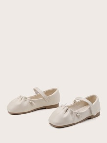Toddler Girls Ruched Mary Jane Flats
