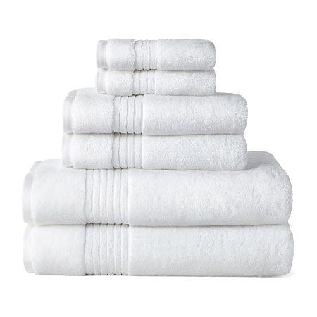 Liz Claiborne Signature Plush Bath Towel Collection, One Size , White