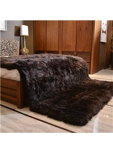 Luxury Style Dark Brown Shaggy Fuzzy Fur Fluffy Blanket