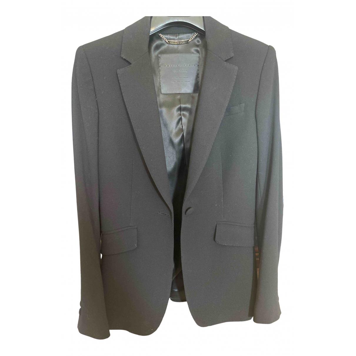 Philipp Plein N Black Wool jacket for Women 38 IT