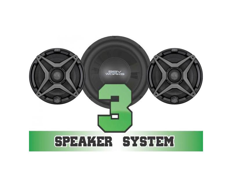 SSV Works RANGER-3 Complete 3 Speaker System Polaris Ranger RZR 4 800 EPS 11-13