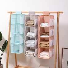 1 Stueck Zufaellige Farbe Haengende Aufbewahrungstasche fuer Kleidung