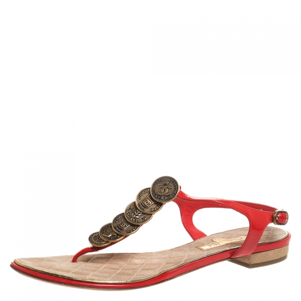 Chanel \N Red Suede Sandals for Women 37.5 EU