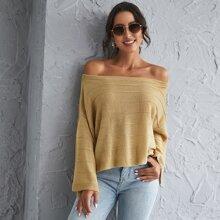 Einfarbig Elegant Pullover