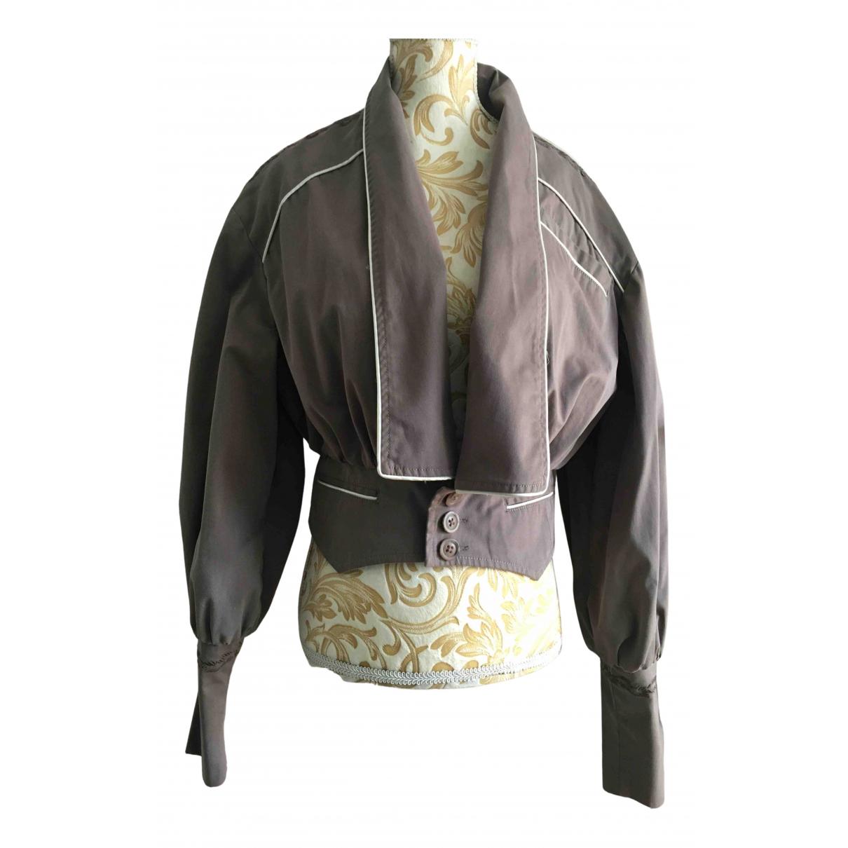 Diesel - Veste   pour femme en coton - gris