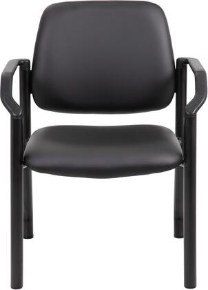 B9591AM-BK Antimicrobial Guest Chair  300 Lb. Weight Capacity  In