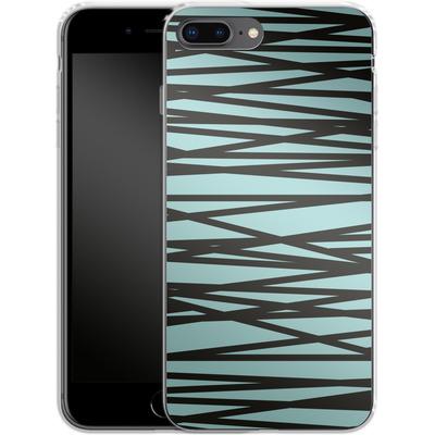 Apple iPhone 8 Plus Silikon Handyhuelle - Rendezvous Stripe von Khristian Howell