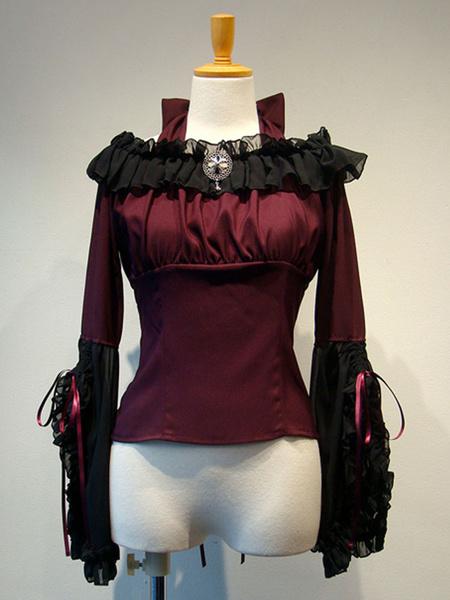 Milanoo Gothic Lolita Cover Ups Deep Blue Ruffles Chiffon Lolita Outwears