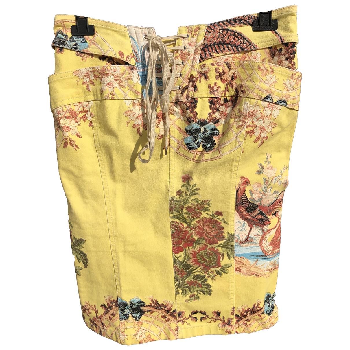 Roberto Cavalli - Jupe   pour femme en coton - jaune