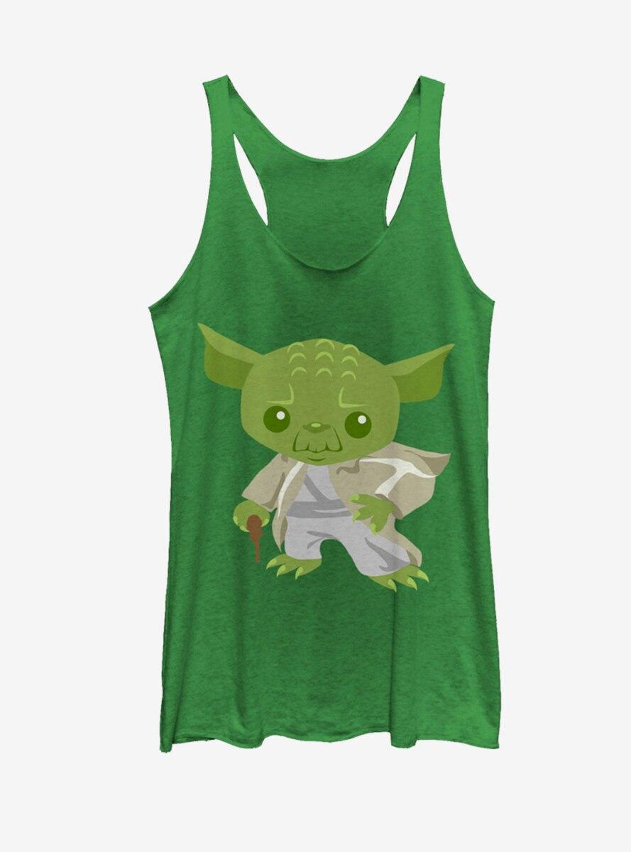 Star Wars Cute Cartoon Yoda Womens Tank
