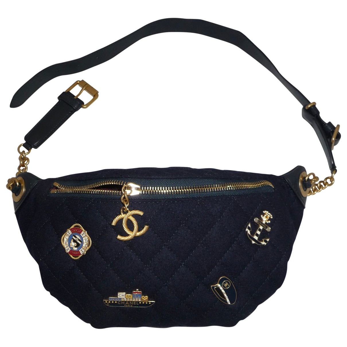 Chanel \N Navy Leather Clutch bag for Women \N