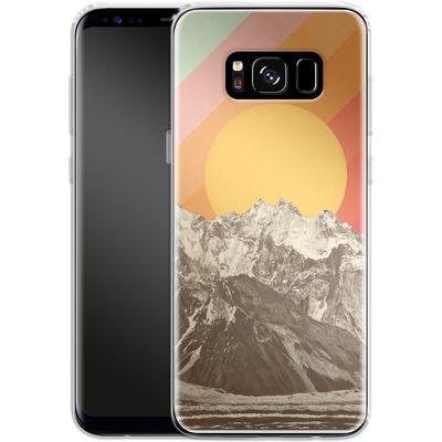Samsung Galaxy S8 Silikon Handyhuelle - Mountainscape von Florent Bodart