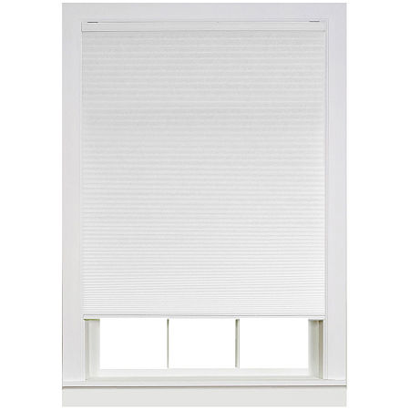 Honeycomb Cellular Pleated Cordless Light-Filtering Shade, One Size , White