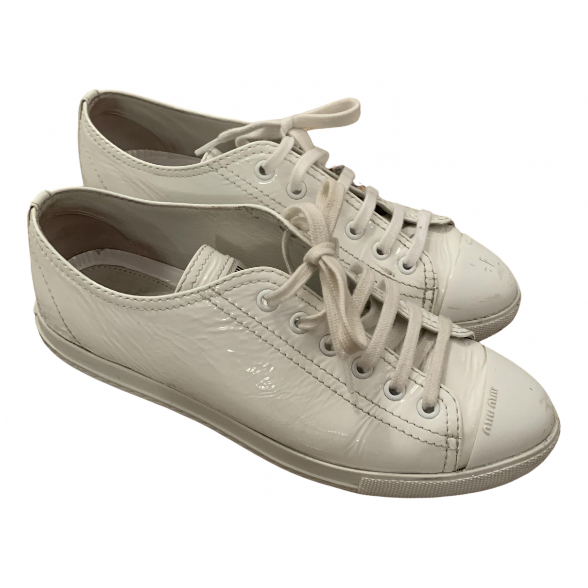 Miu Miu \N Sneakers in  Weiss Leder