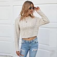 Strick Crop Pullover