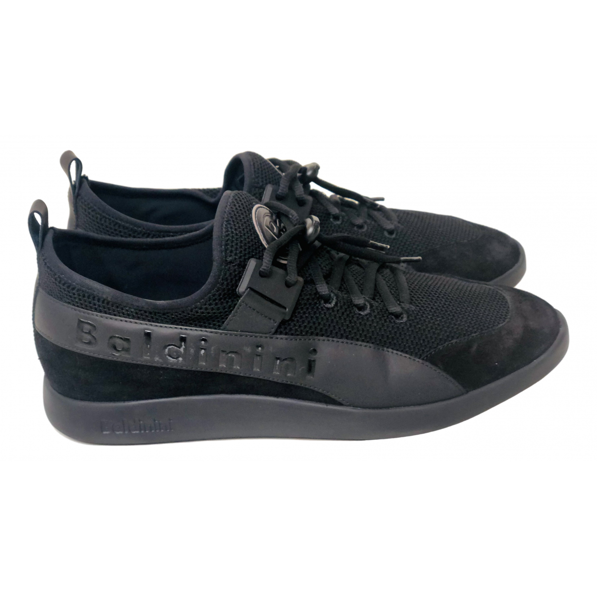 Baldinini N Black Cloth Trainers for Men 44 IT
