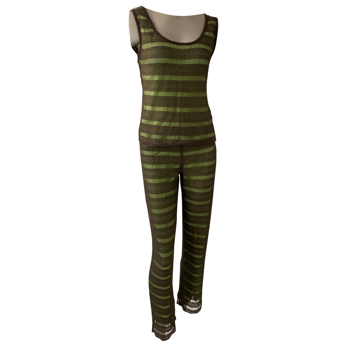 Herve Leger \N Green jumpsuit for Women 36 FR