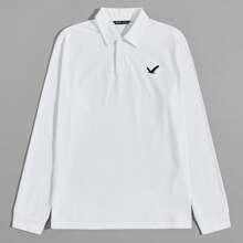 Men Eagle Graphic Polo Shirt