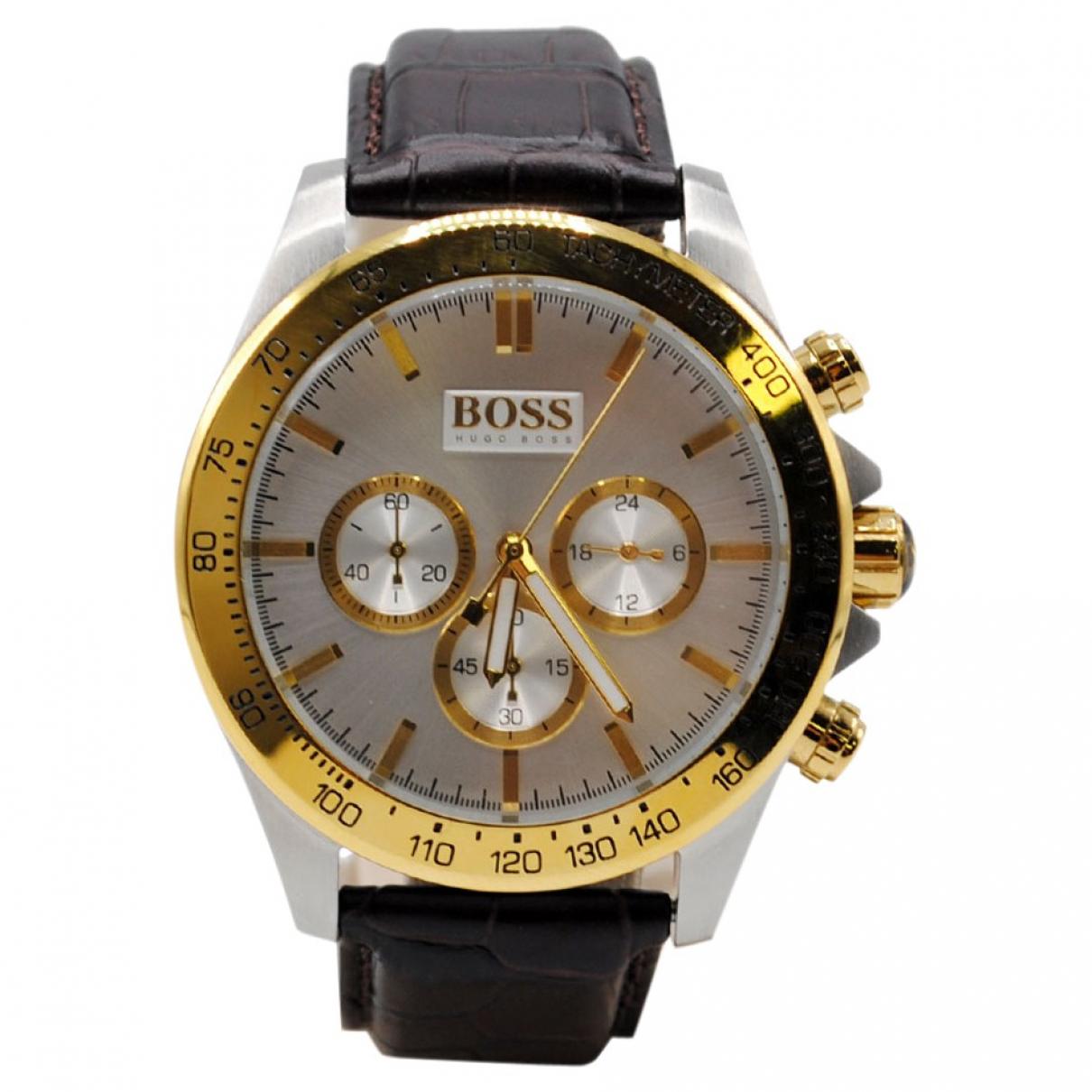Hugo Boss \N White Steel watch for Men \N