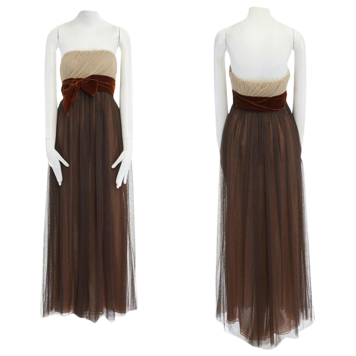 Vera Wang \N Kleid in  Braun Samt