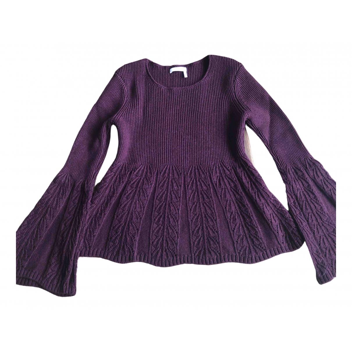 See By Chloe - Pull   pour femme en laine - violet